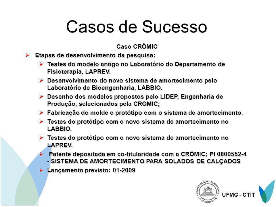 Casos de Sucesso Caso CRÔMIC Etapas de desenvolvimento da pesquisa: