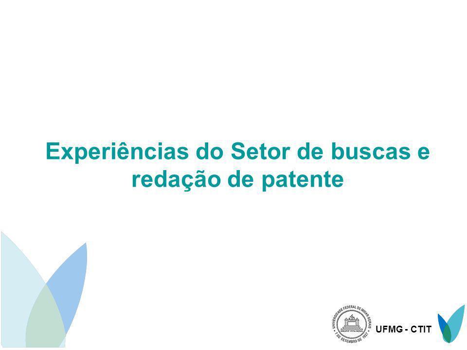 Experiências do Setor de buscas e redação de patente