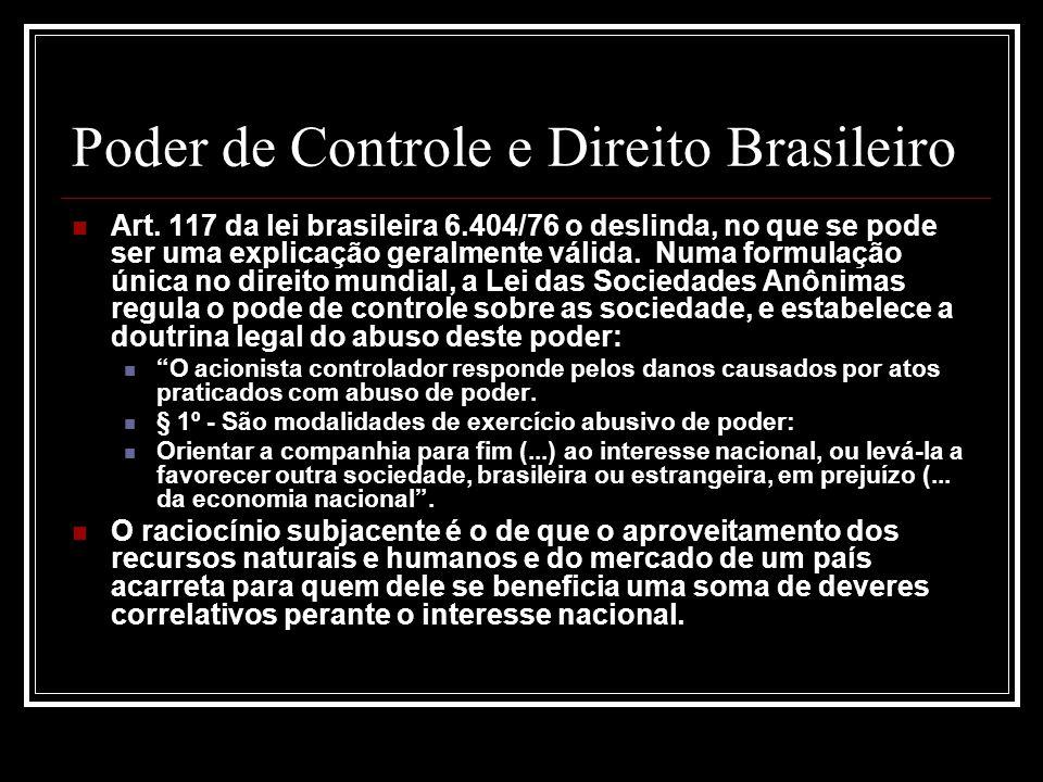 Poder de Controle e Direito Brasileiro