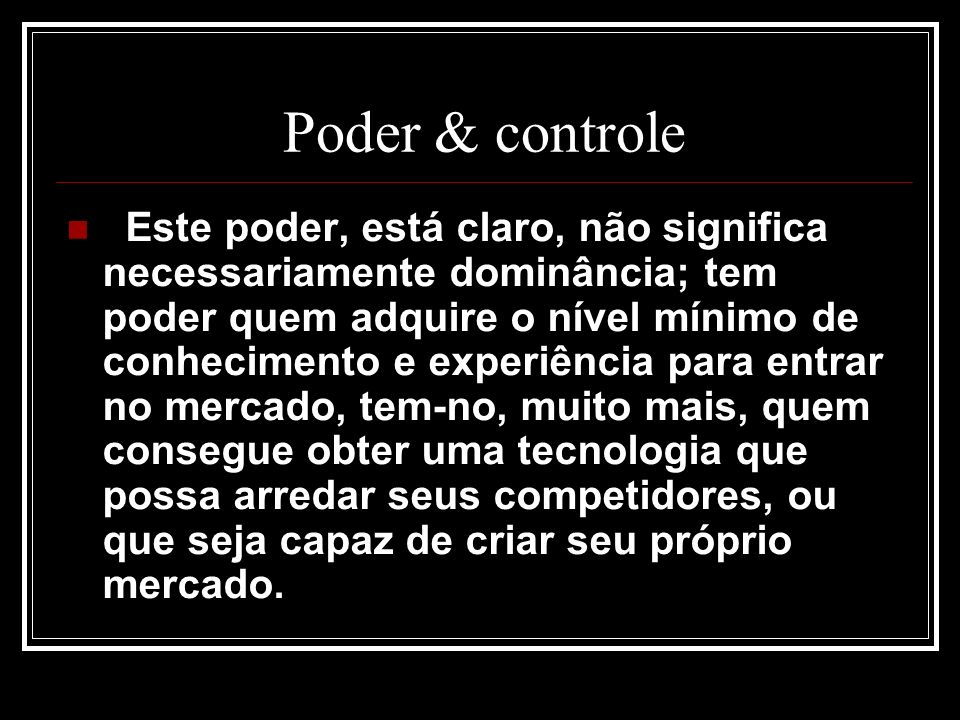 Poder & controle