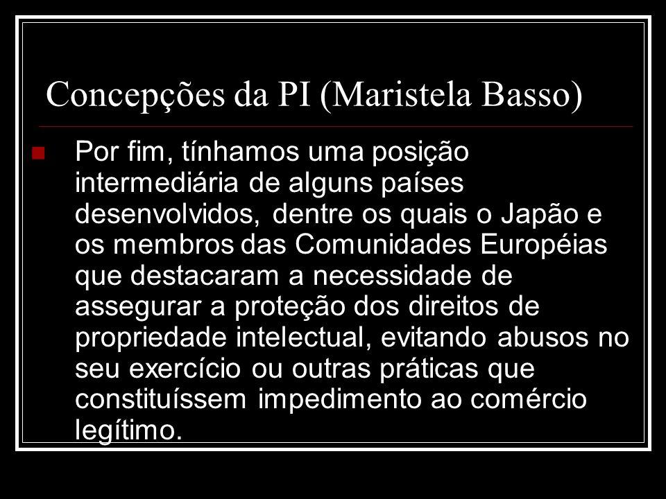 Concepções da PI (Maristela Basso)