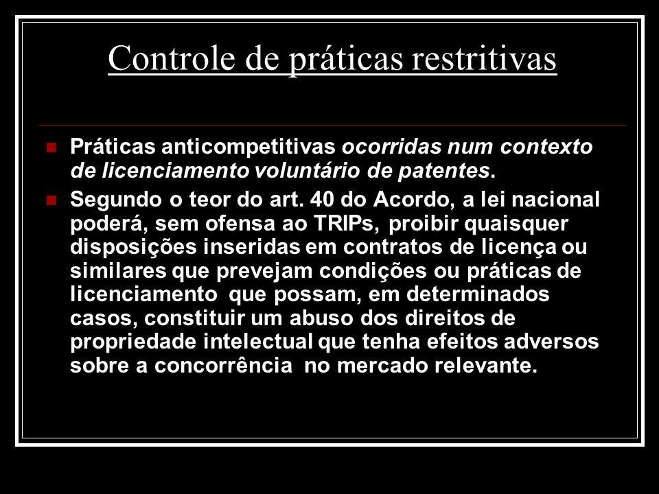 Controle de práticas restritivas