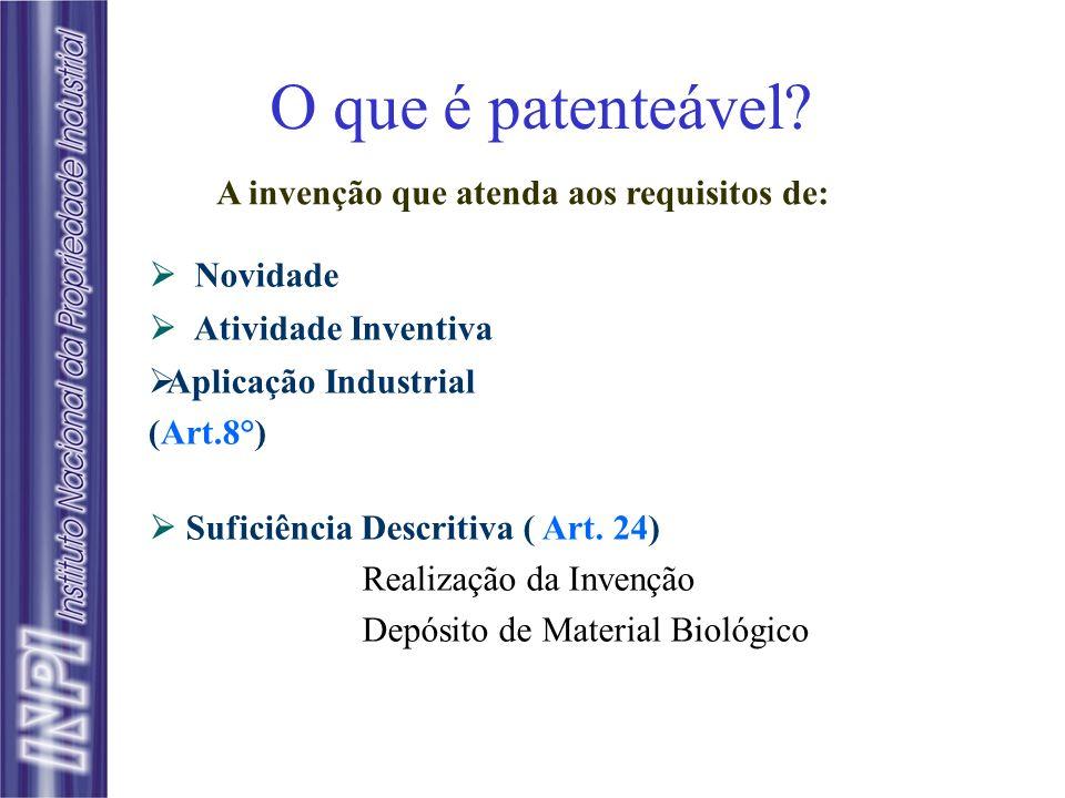 O que é patenteável A invenção que atenda aos requisitos de: