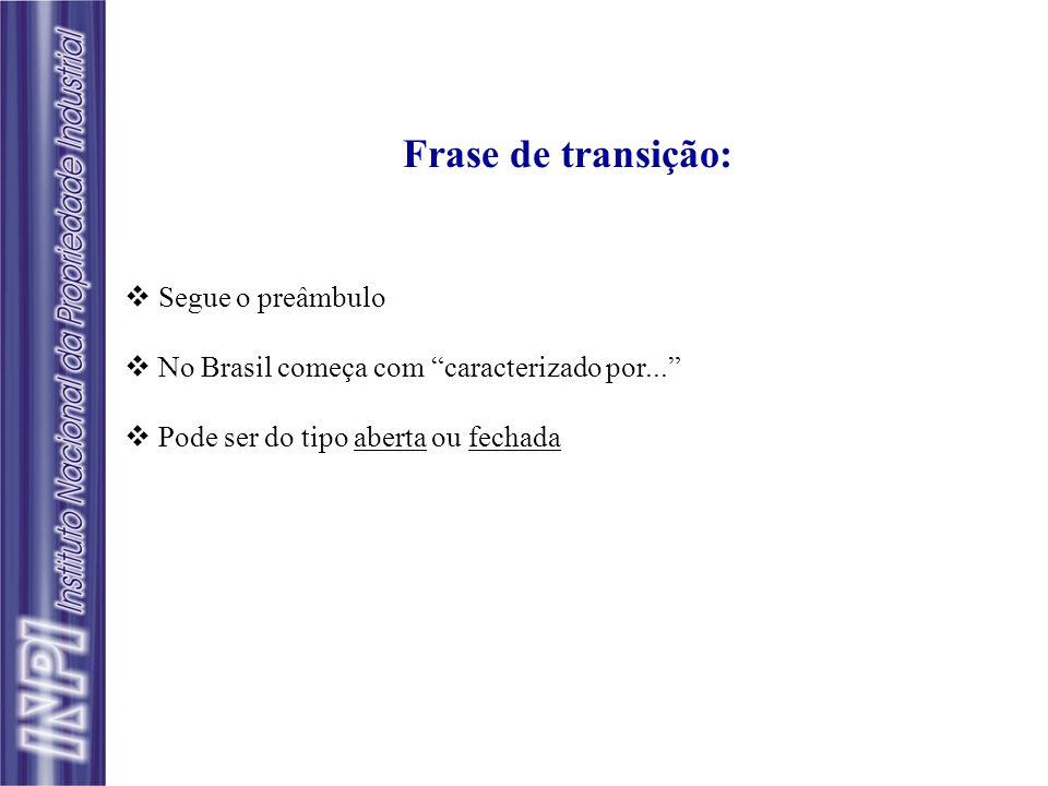 Frase de transição: Segue o preâmbulo