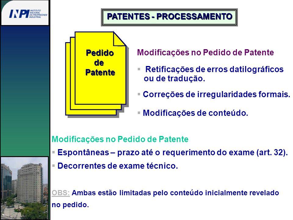 PATENTES - PROCESSAMENTO
