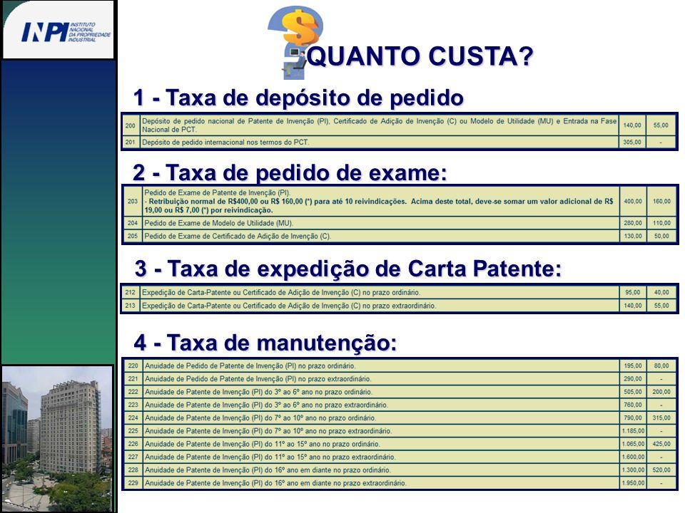1 - Taxa de depósito de pedido