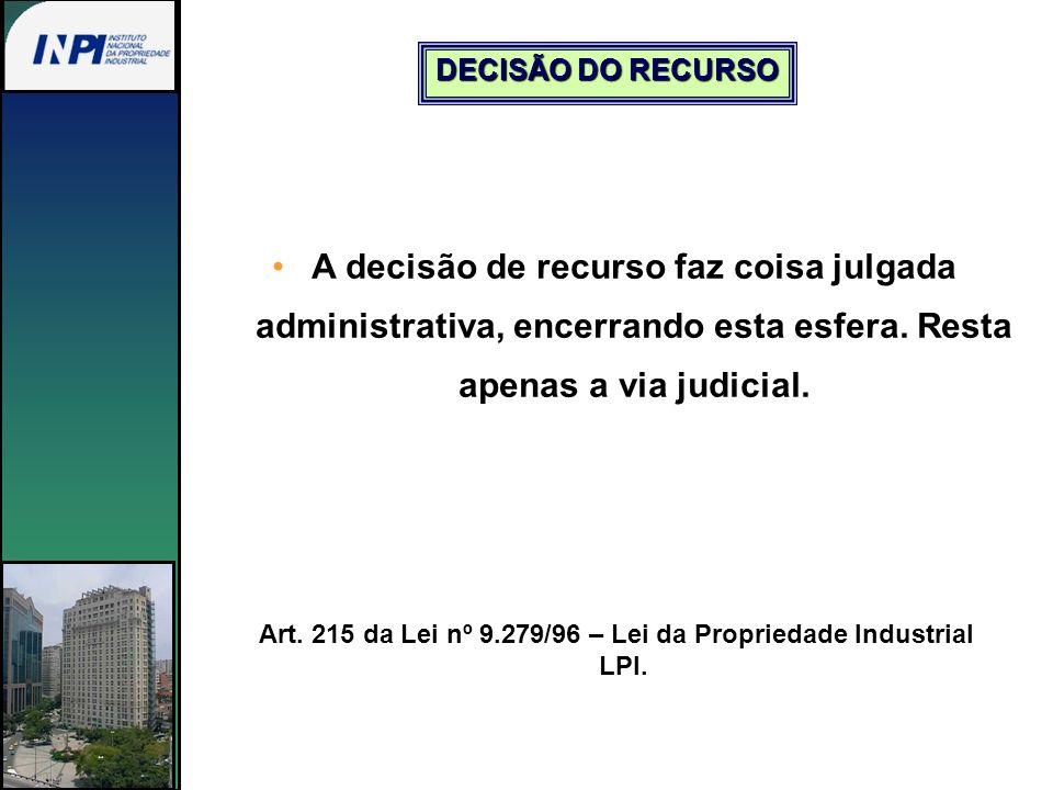 Art. 215 da Lei nº 9.279/96 – Lei da Propriedade Industrial