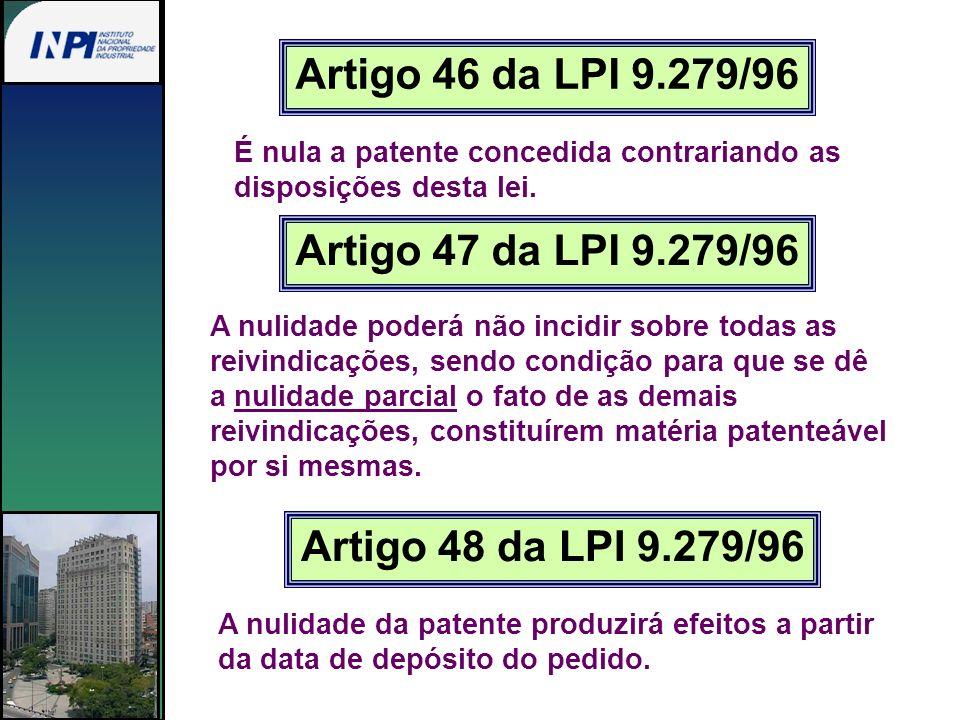 Artigo 46 da LPI 9.279/96 Artigo 47 da LPI 9.279/96
