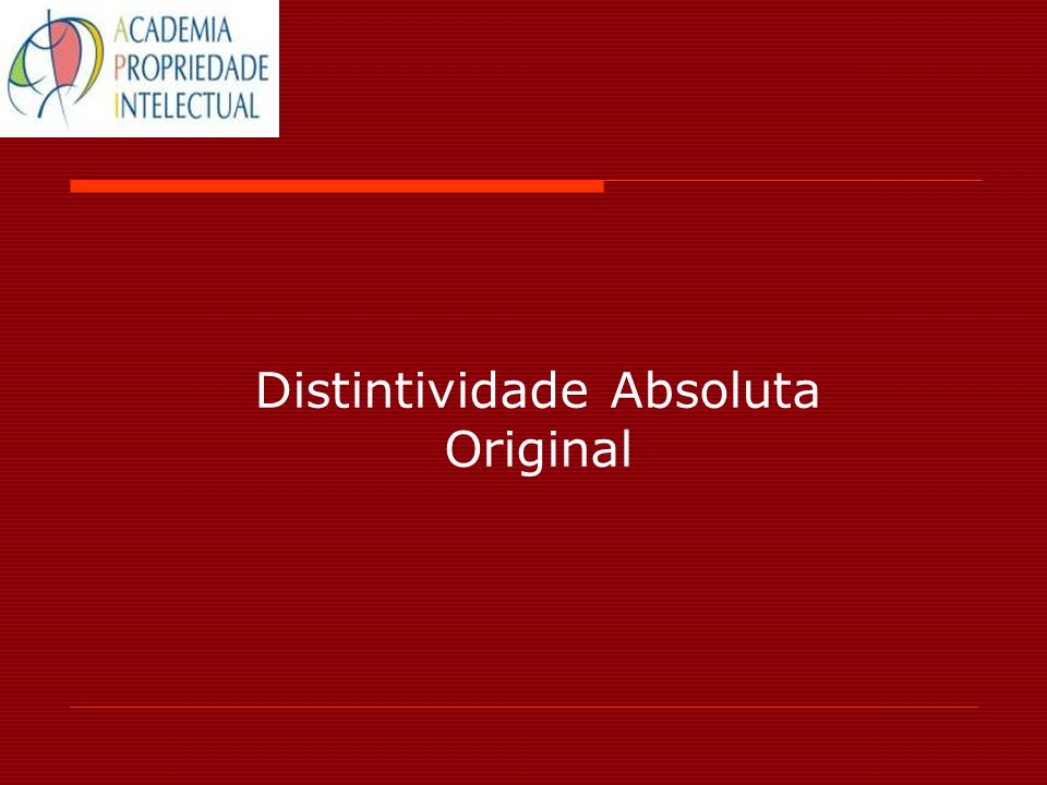 Distintividade Absoluta Original