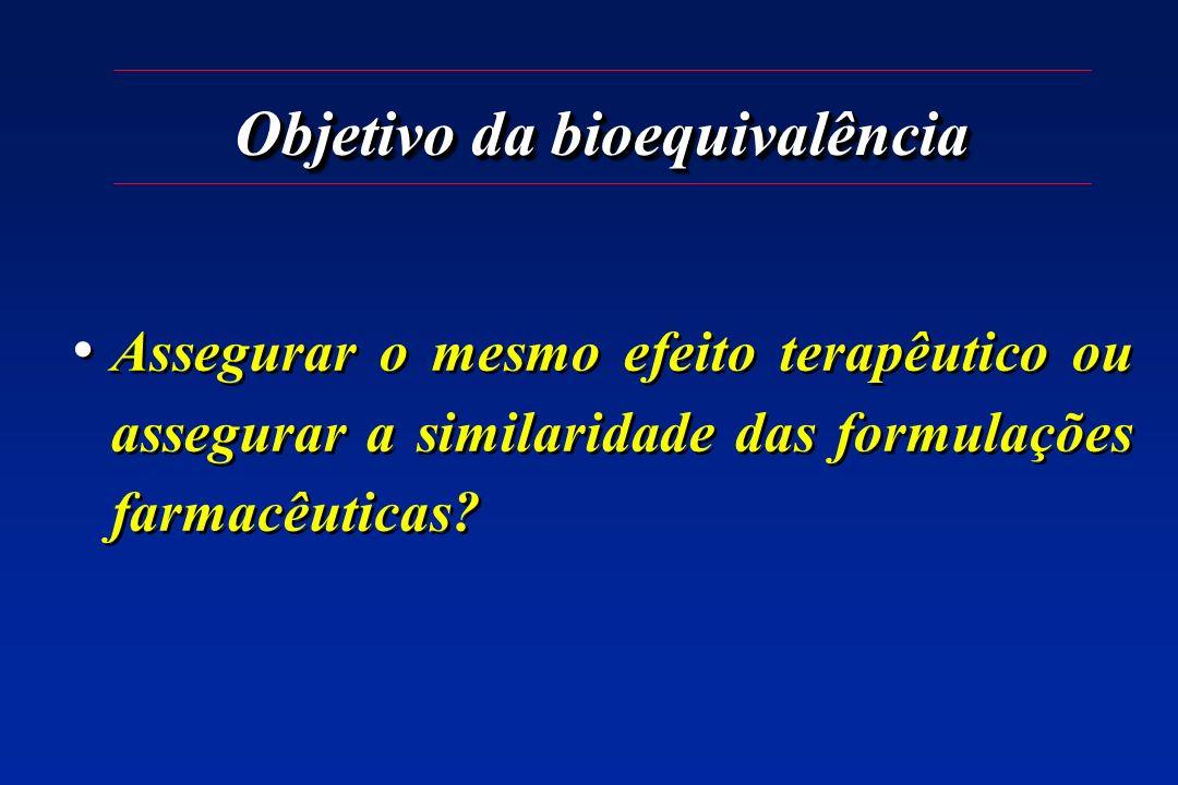 Objetivo da bioequivalência