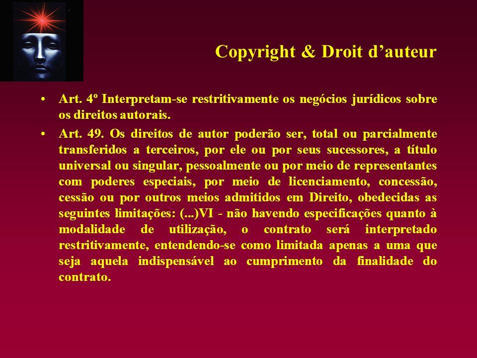 Copyright & Droit d'auteur