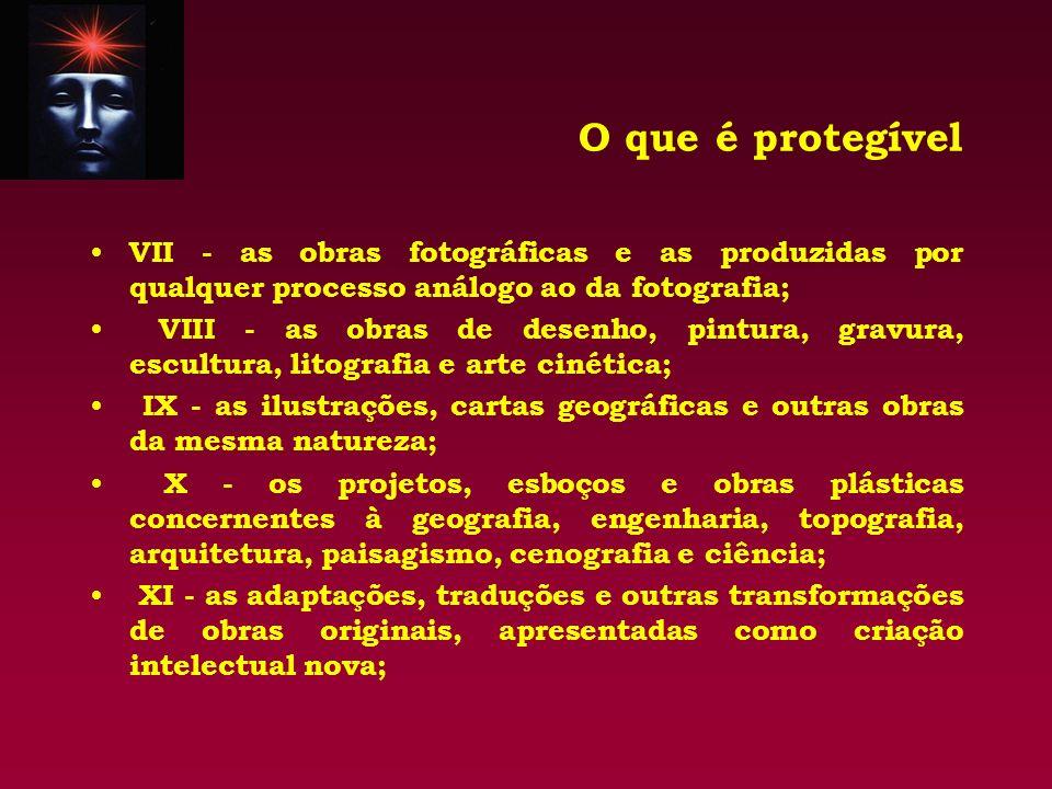 O que é protegível VII - as obras fotográficas e as produzidas por qualquer processo análogo ao da fotografia;