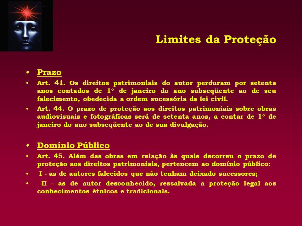Limites da Proteção Prazo Domínio Público