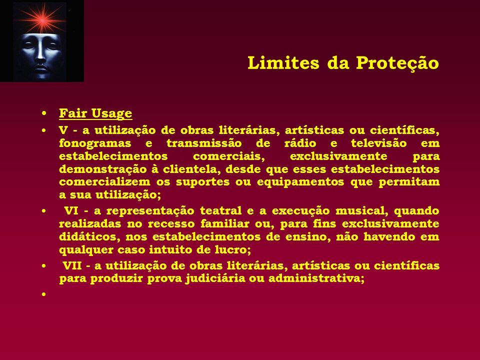 Limites da Proteção Fair Usage