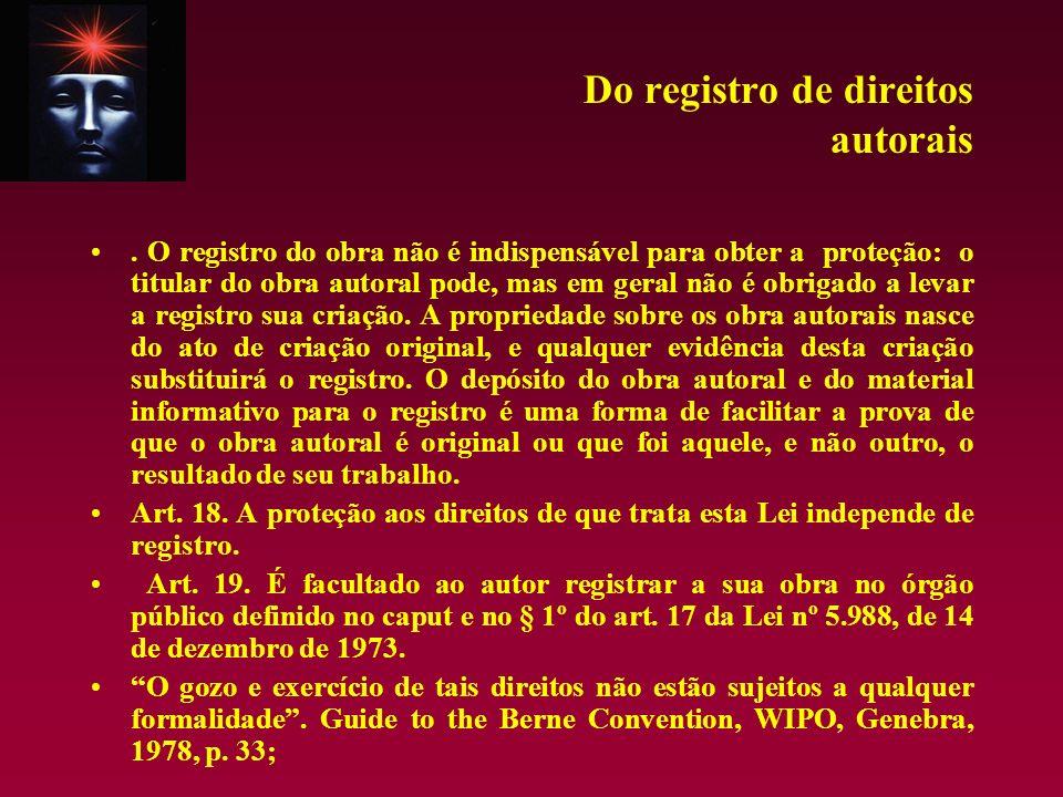 Do registro de direitos autorais