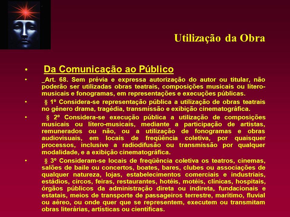 Utilização da Obra Da Comunicação ao Público
