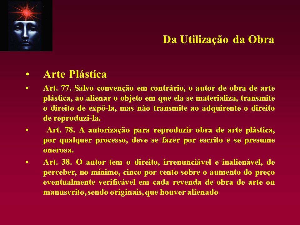 Da Utilização da Obra Arte Plástica