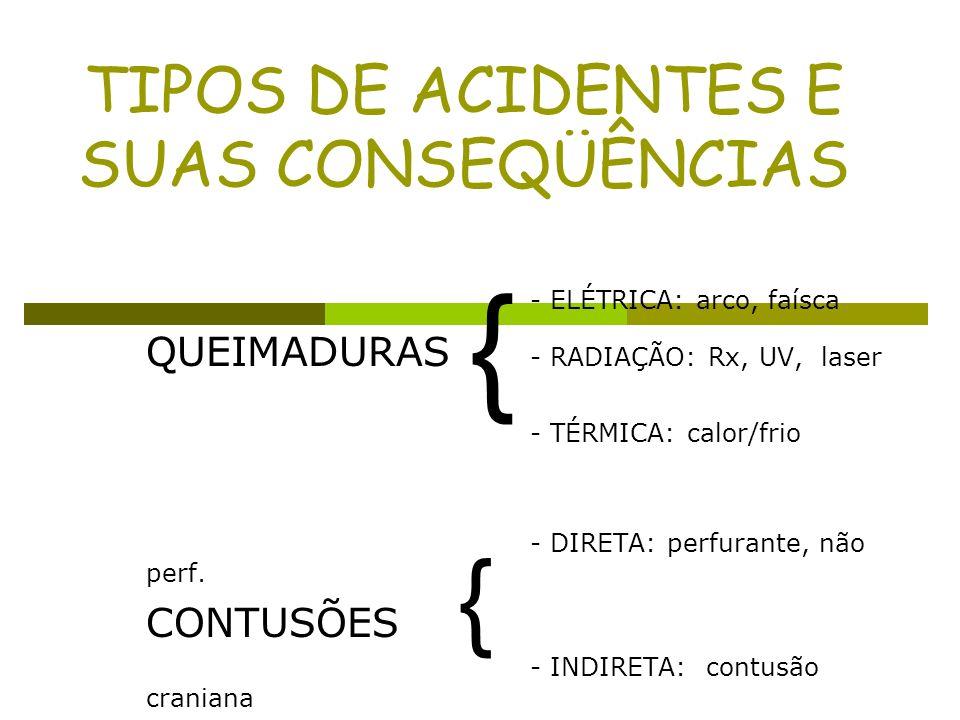 TIPOS DE ACIDENTES E SUAS CONSEQÜÊNCIAS