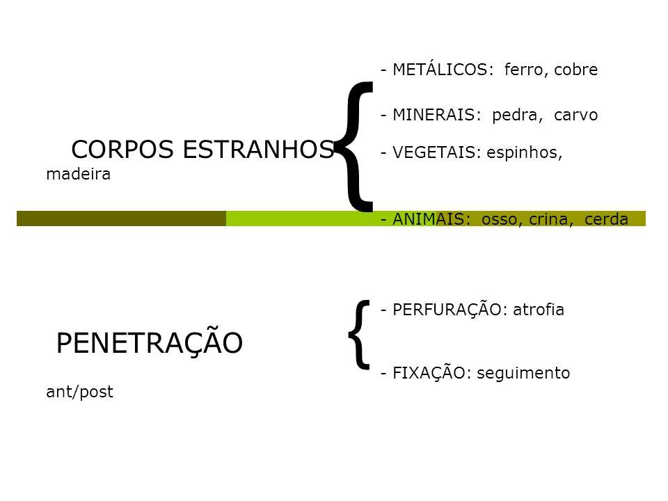 { { PENETRAÇÃO CORPOS ESTRANHOS - VEGETAIS: espinhos, madeira