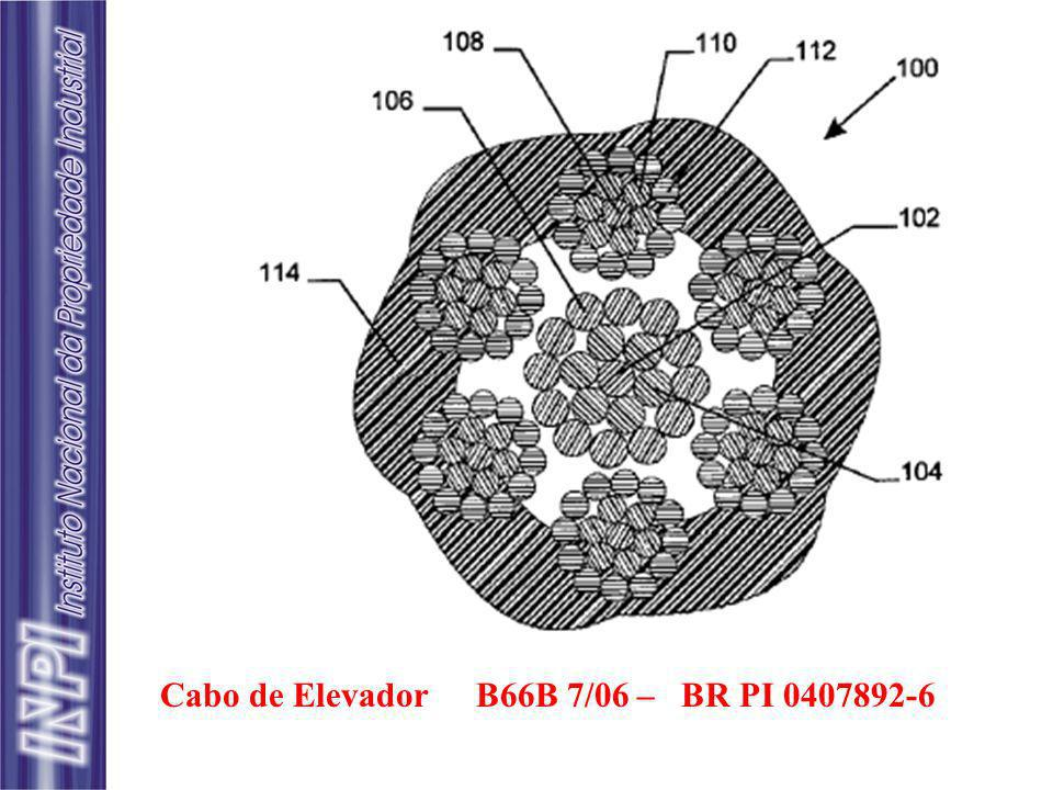 Cabo de Elevador B66B 7/06 – BR PI 0407892-6