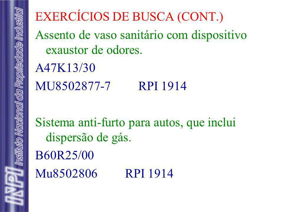 EXERCÍCIOS DE BUSCA (CONT.)