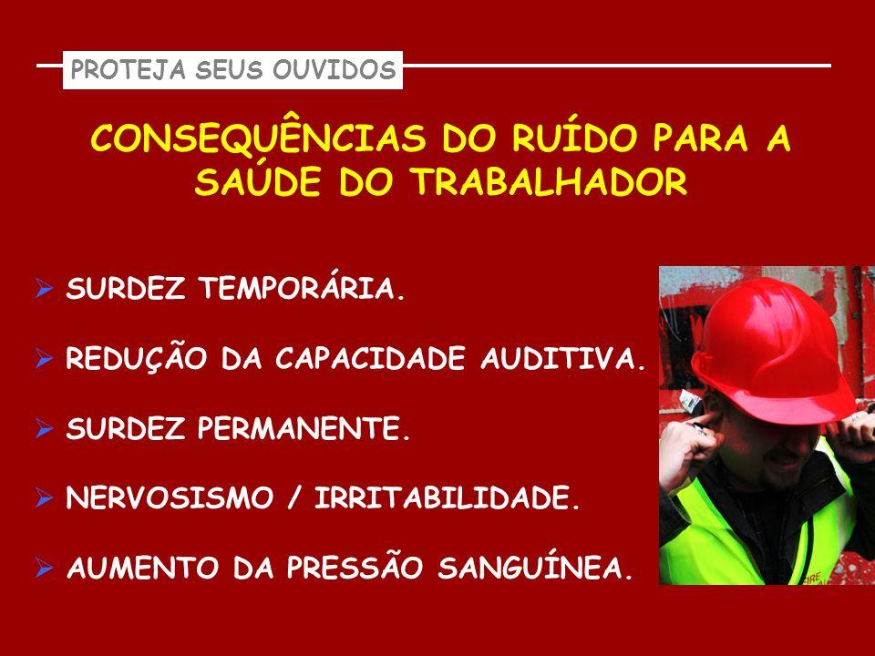 CONSEQUÊNCIAS DO RUÍDO PARA A SAÚDE DO TRABALHADOR