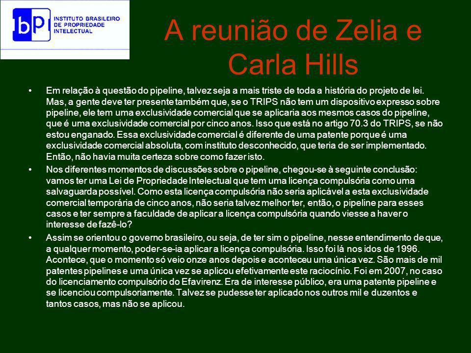 A reunião de Zelia e Carla Hills