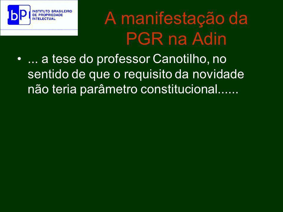 A manifestação da PGR na Adin