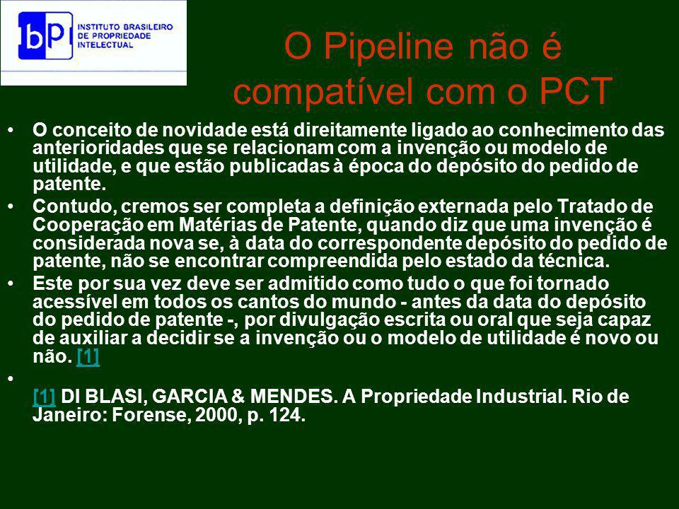 O Pipeline não é compatível com o PCT