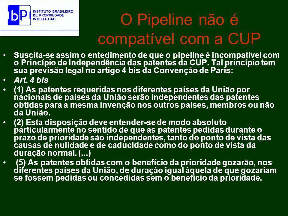 O Pipeline não é compatível com a CUP