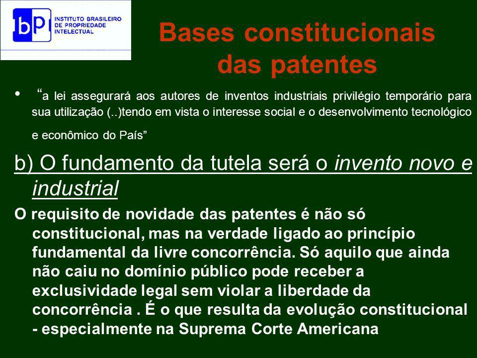 Bases constitucionais das patentes