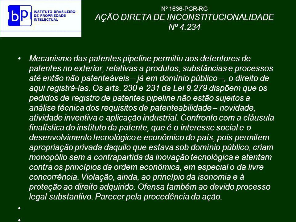 Nº 1636-PGR-RG AÇÃO DIRETA DE INCONSTITUCIONALIDADE Nº 4.234