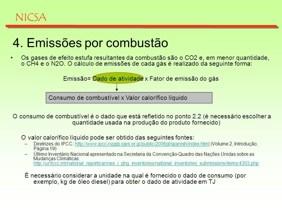 4. Emissões por combustão