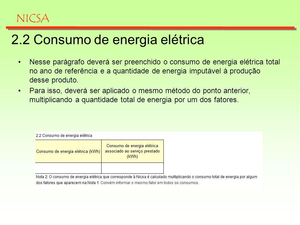 2.2 Consumo de energia elétrica