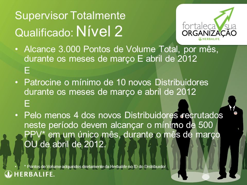 Supervisor Totalmente Qualificado: Nível 2