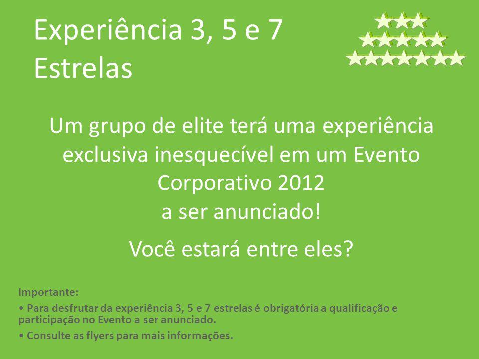 Experiência 3, 5 e 7 Estrelas