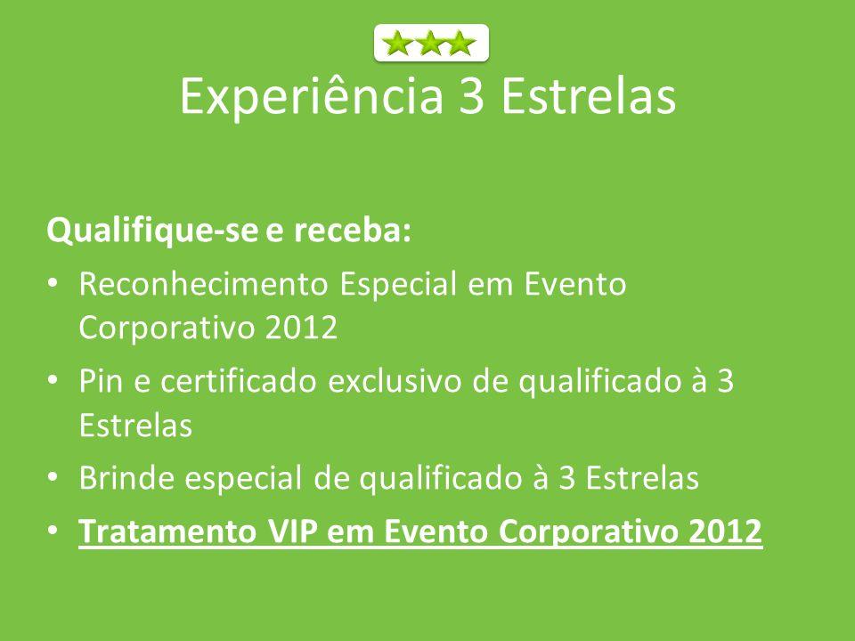 Experiência 3 Estrelas Qualifique-se e receba:
