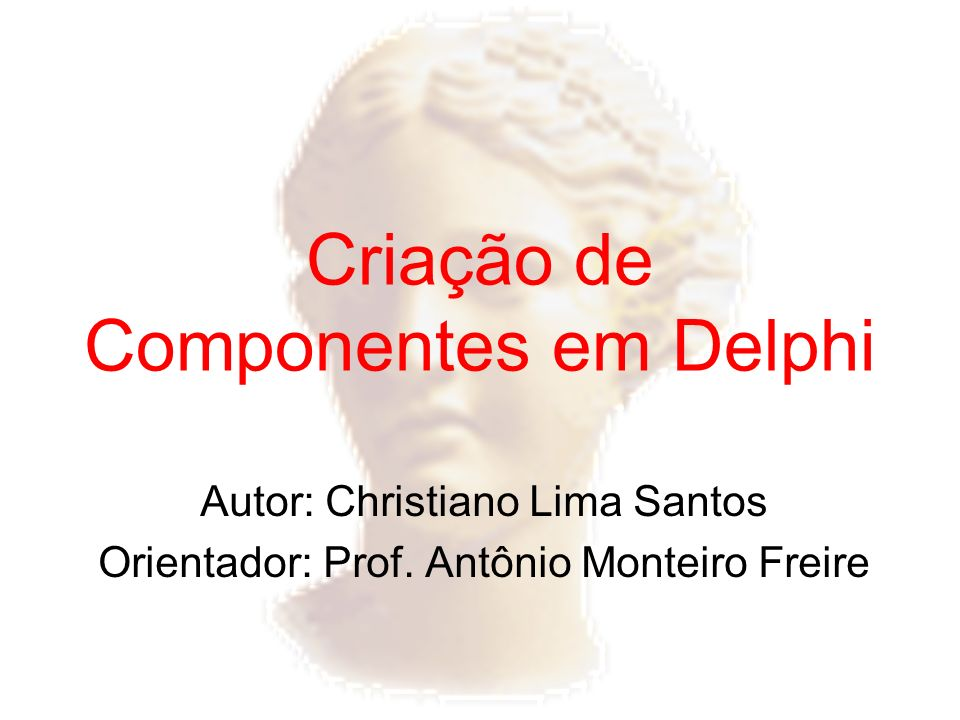 Criação de Componentes em Delphi
