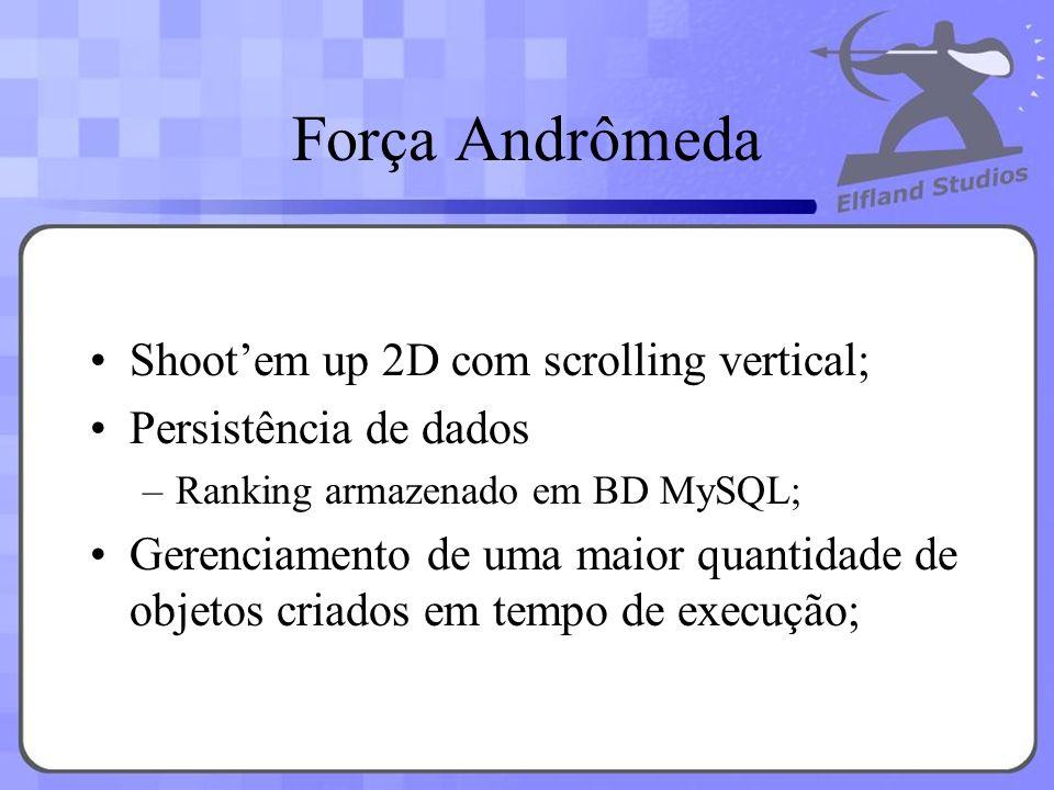Força Andrômeda Shoot'em up 2D com scrolling vertical;