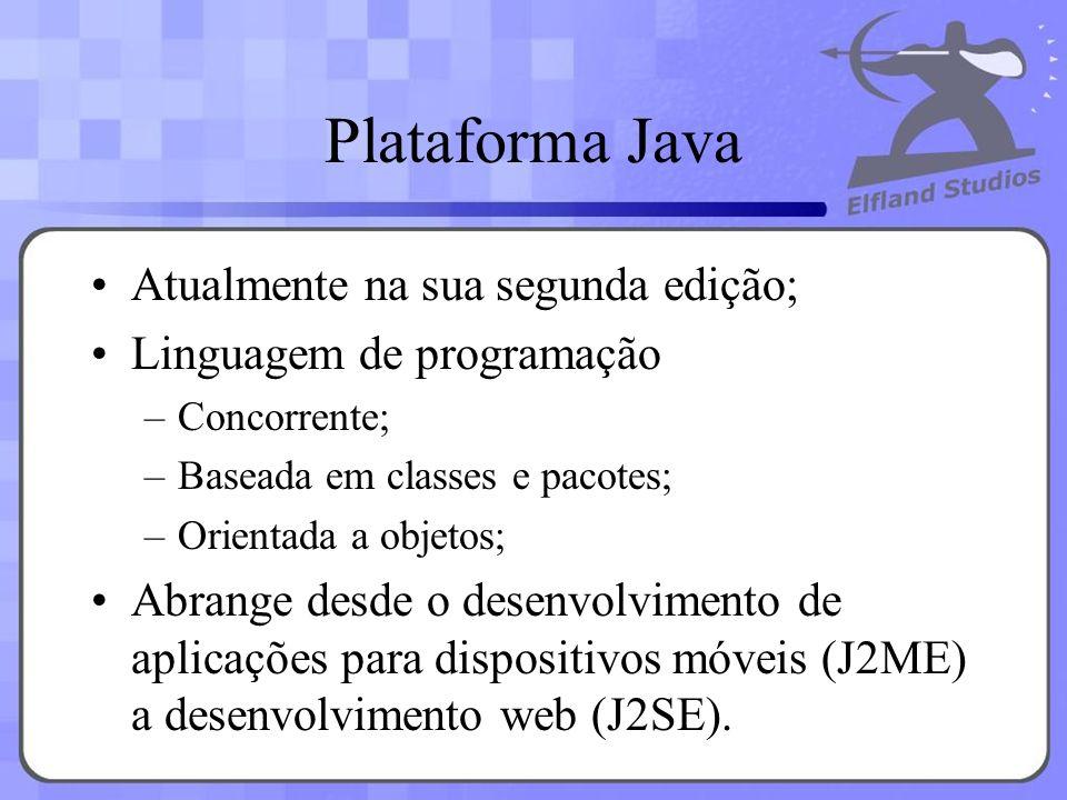 Plataforma Java Atualmente na sua segunda edição;