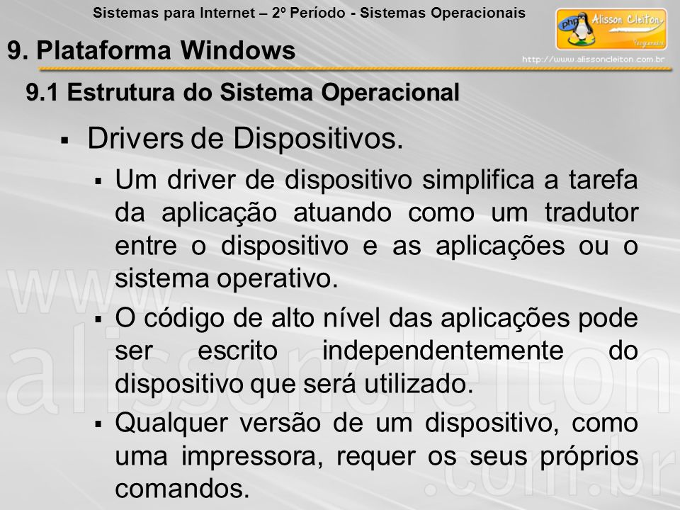 Drivers de Dispositivos.