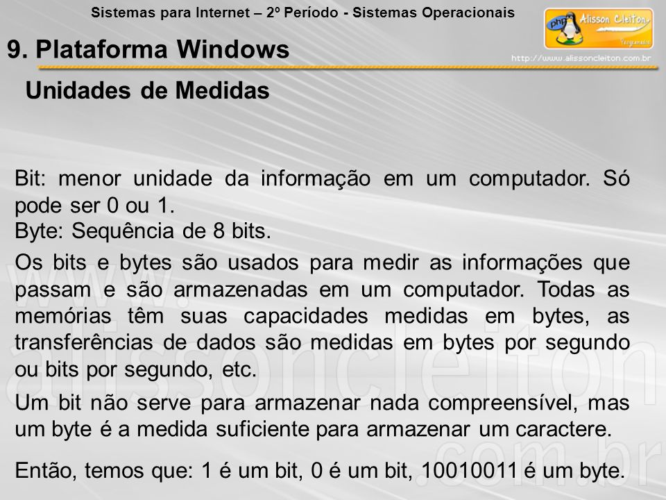 9. Plataforma Windows Unidades de Medidas