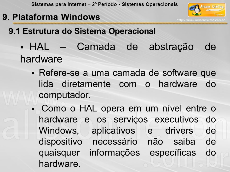 HAL – Camada de abstração de hardware