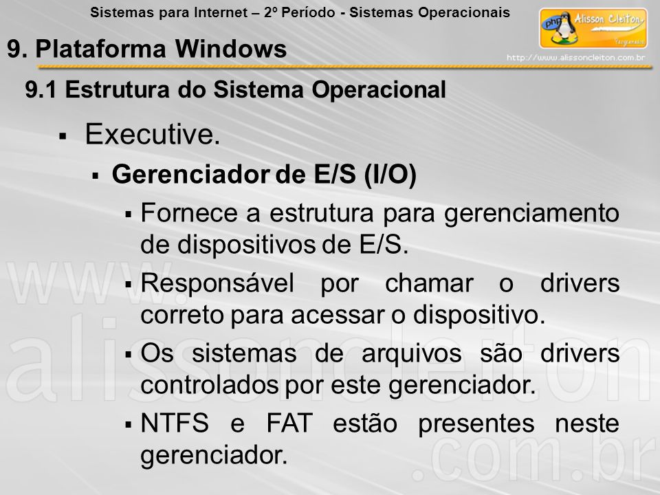 Executive. Gerenciador de E/S (I/O)