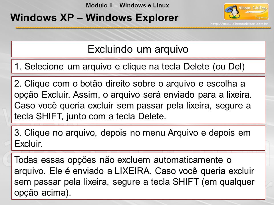 Windows XP – Windows Explorer