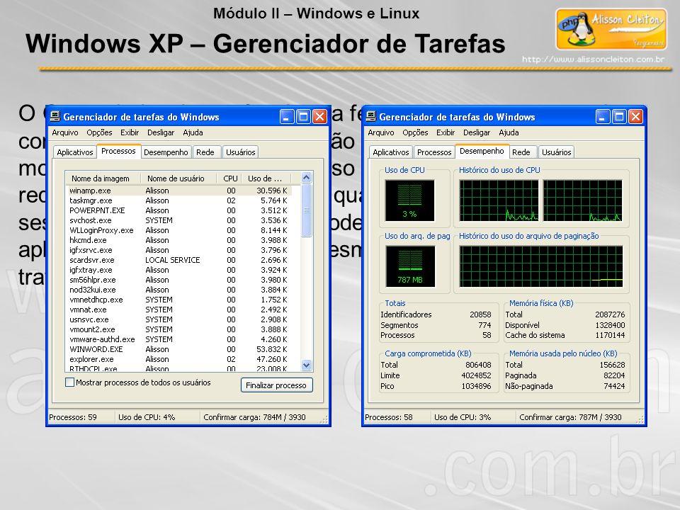 Windows XP – Gerenciador de Tarefas