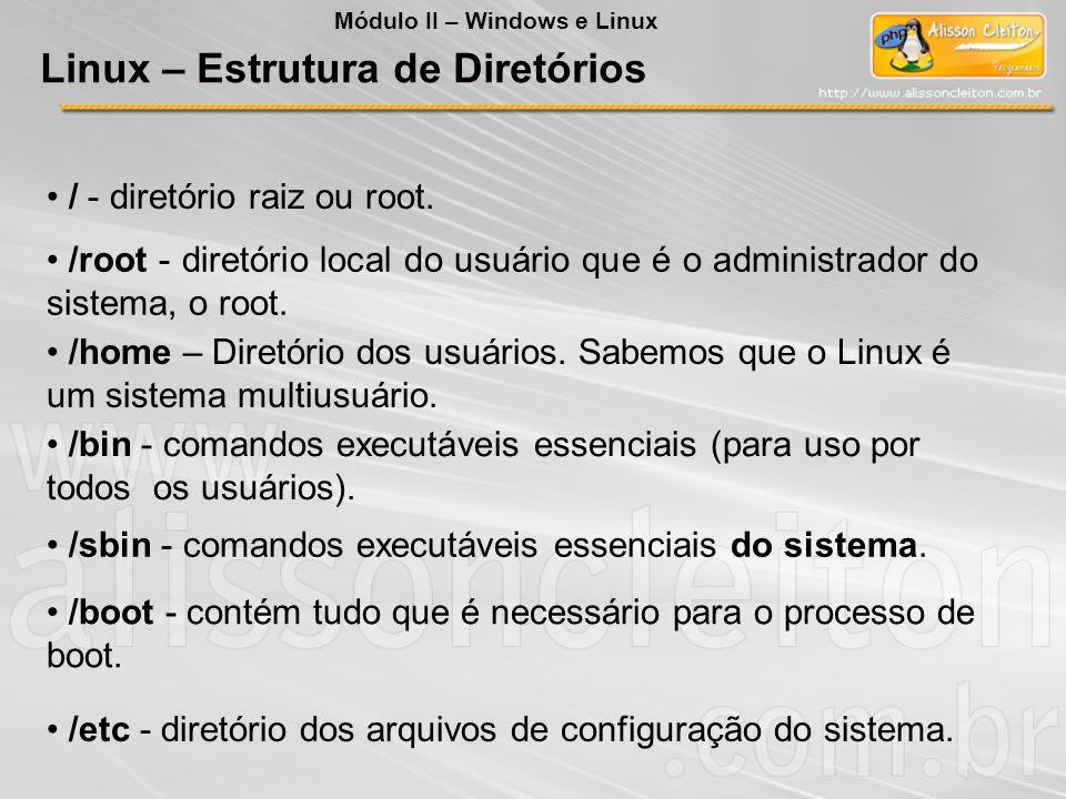 Linux – Estrutura de Diretórios