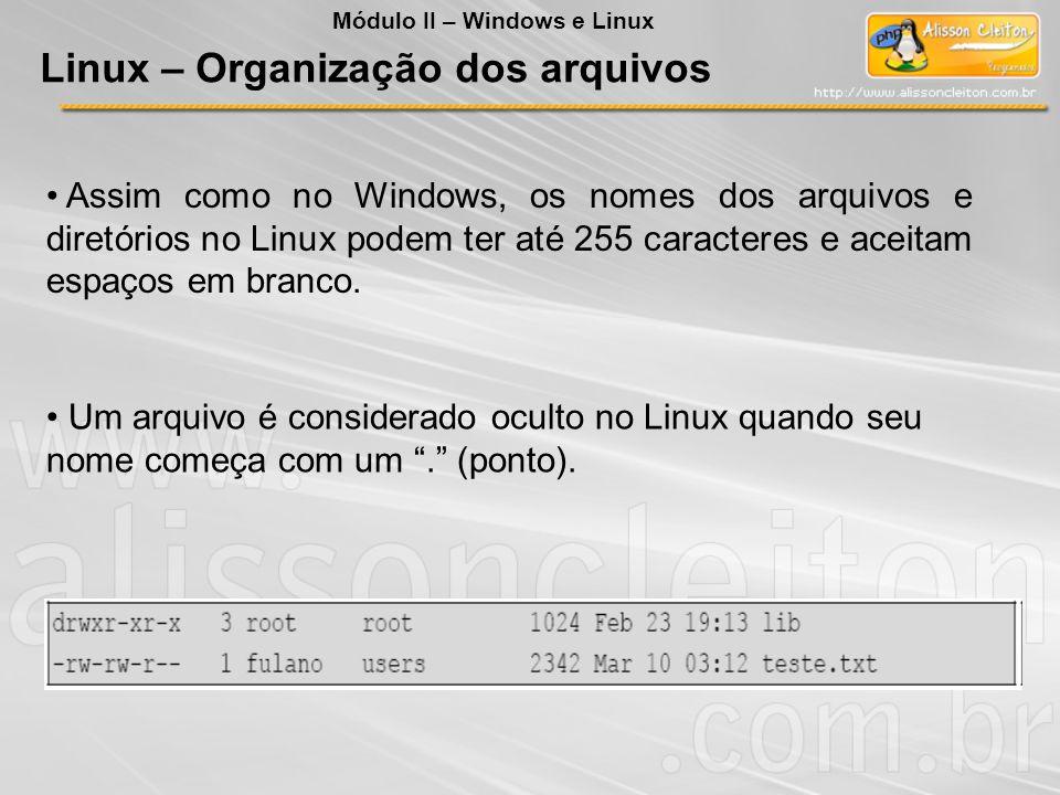 Linux – Organização dos arquivos