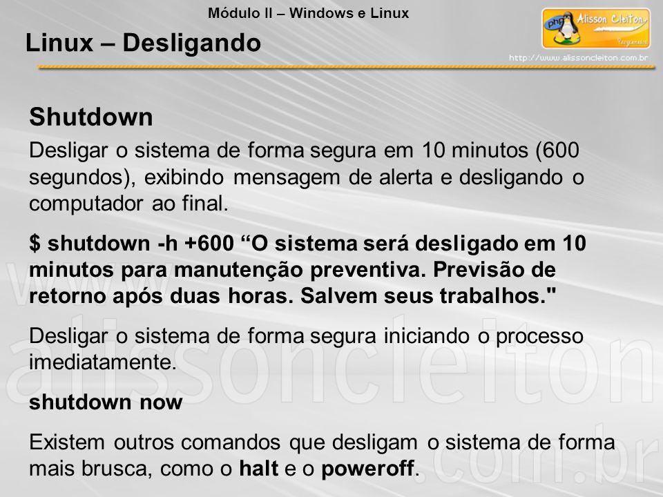 Linux – Desligando Shutdown