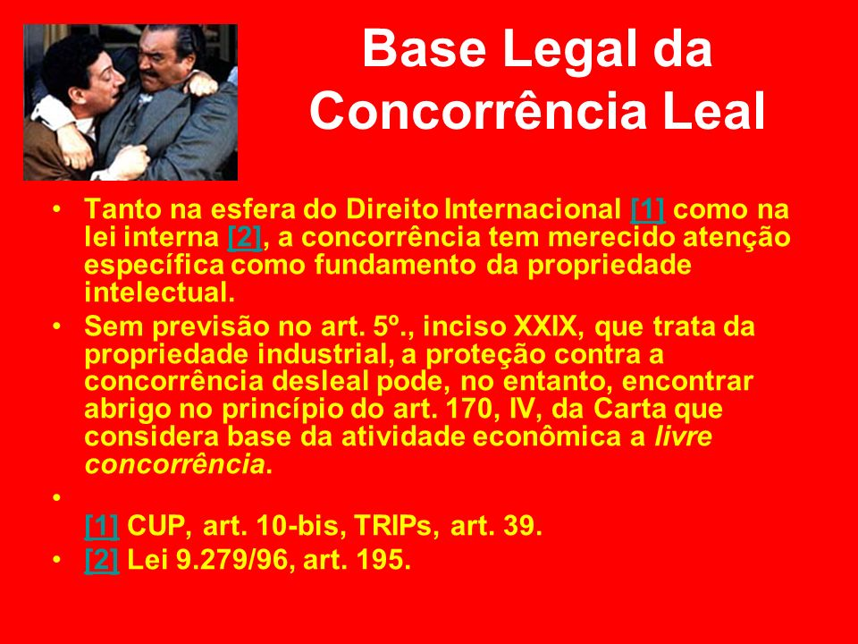 Base Legal da Concorrência Leal
